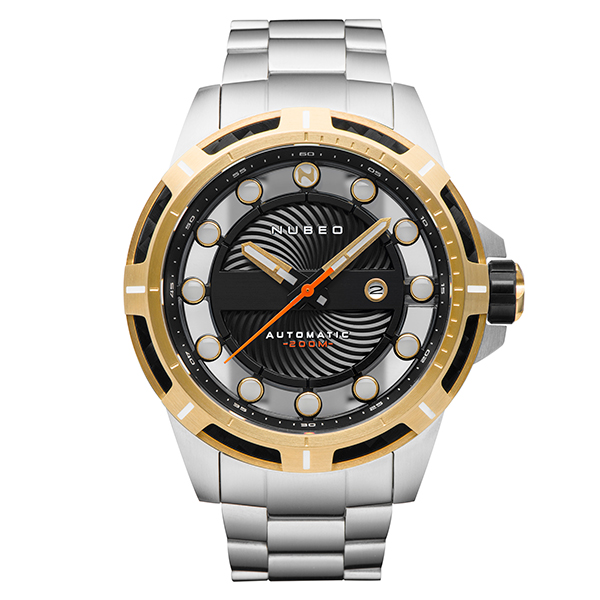 Nubeo Gent's ORBIT Automatic Watch with Stainless Steel Strap Gold