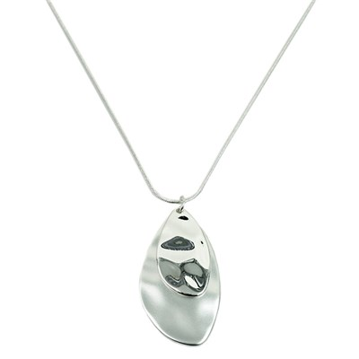 Teardrop Hammered Effect Necklace