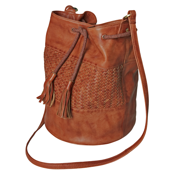 Joe Browns Gorgeous Washed Leather Bag Tan