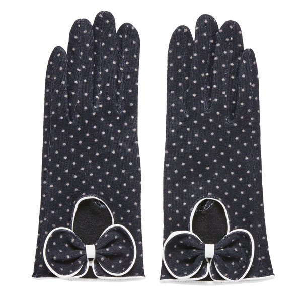 Joe Browns Racy Retro Polka Dot Gloves Black Multi