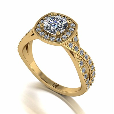 Moissanite Lady Lynsey 9ct Gold 1.35ct Eq Infinity Solitaire Ring