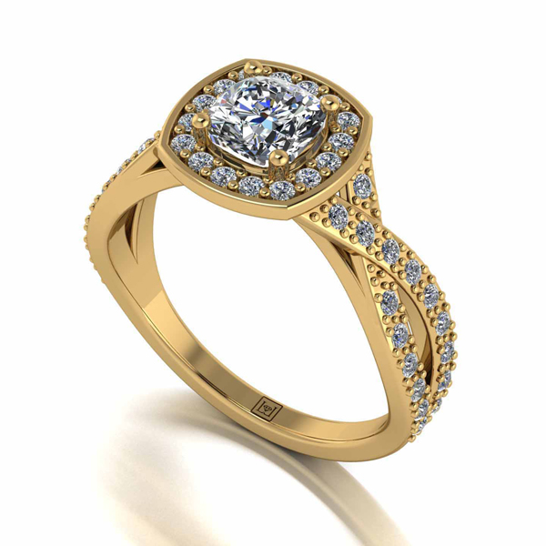 Moissanite Lady Lynsey 9ct Gold 1.35ct eq Infinity Solitaire Ring Yellow Gold