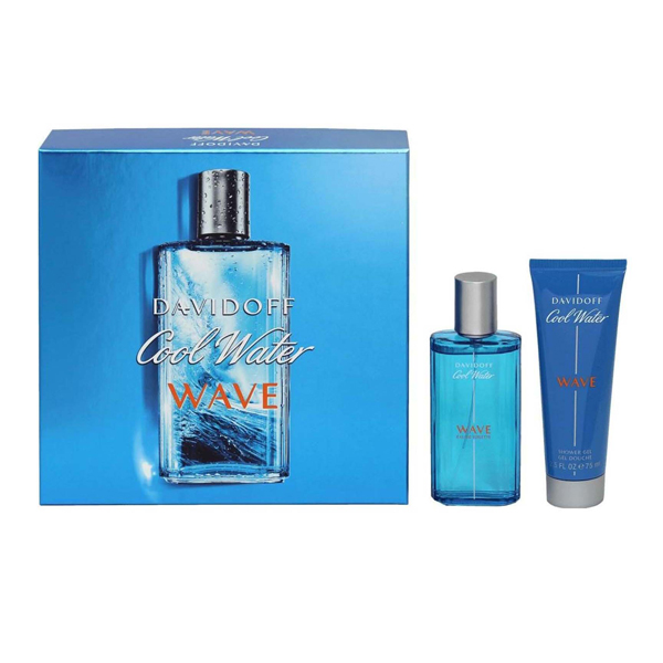 Davidoff Cool Water Wave EDT 75ml and Shower Gel 75ml No Colour