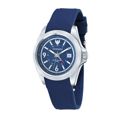 Swiss Eagle Gent's Dufaux Watch with Silicone Strap