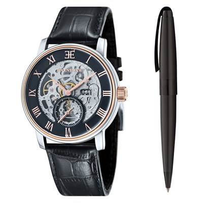 Thomas Earnshaw Gent's Westminster Automatic Watch with Genuine Leather Strap