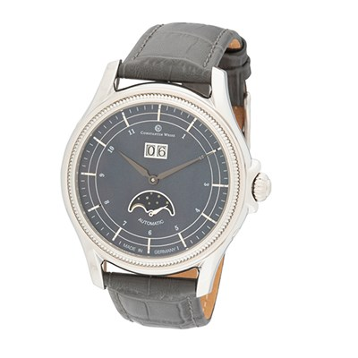 Constantin Weisz Gent's Automatic MOP Dial Watch with Genuine Leather Strap
