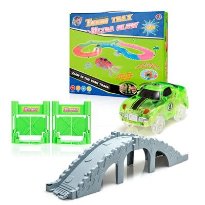 Turbo Trax Ultra Glow with Bridge Accessory Kit and Blast Doors