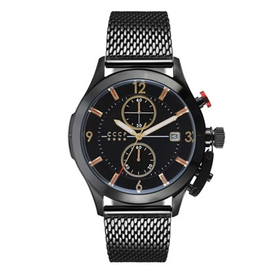 CCCP Gent's Shchuka Chronograph Watch with Milanese Bracelet