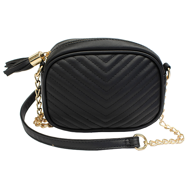 Quilted Crossbody Bag Black