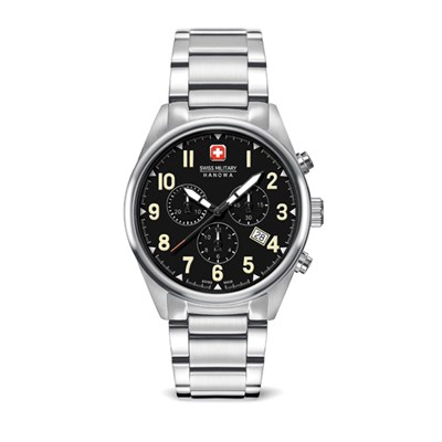 Swiss Military by Hanowa Gent's Sergeant Chronograph Watch with Stainless Steel Bracelet