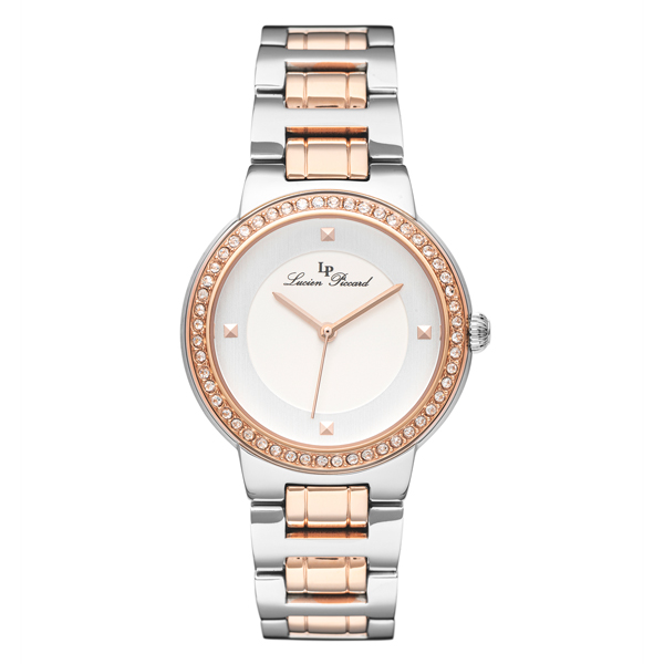 Lucien Piccard Ladies' Grace Watch with Stainless Steel Bracelet Rose Gold