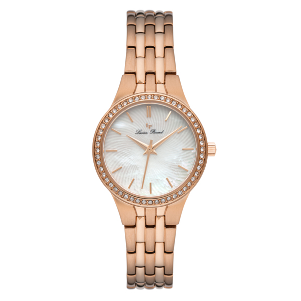 Lucien Piccard Ladies' Jayne Watch with Stainless Steel Bracelet Rose Gold