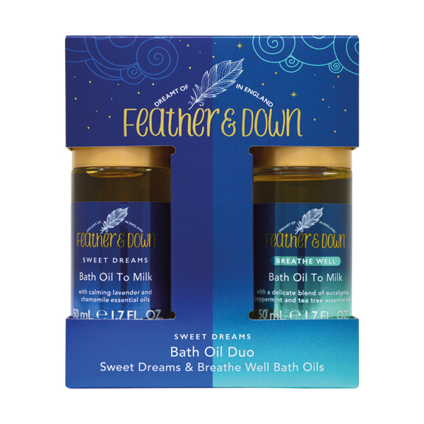Feather and Down Bath Oil Duo (2 x 50ml) No Colour