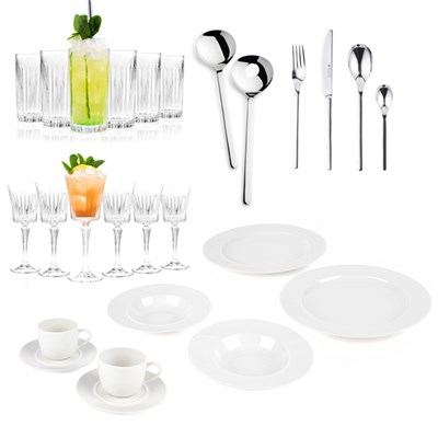 Alessi & RCR Luxury 6 Table Place Setting