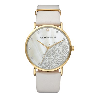 Carrington Luella Ladies' Watch with Genuine Leather Strap