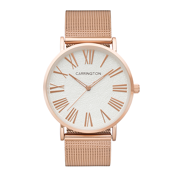 Carrington Eliza Ladies' Watch with Stainless Steel Bracelet Rose Gold