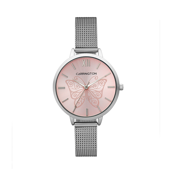 Carrington Clementine Ladies' Watch with Stainless Steel Bracelet Pink