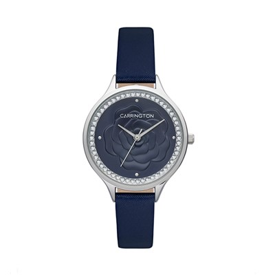 Carrington Elsie Ladies' Floral Watch with Genuine Leather Strap