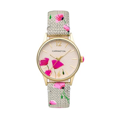 Carrington Cordelia Ladies' Watch with Printed Leather Strap