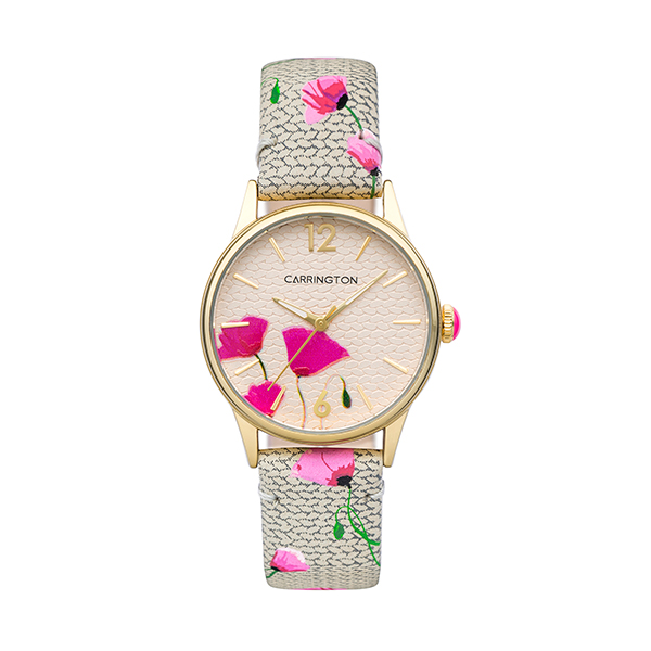 Carrington Cordelia Ladies' Watch with Printed Leather Strap Grey