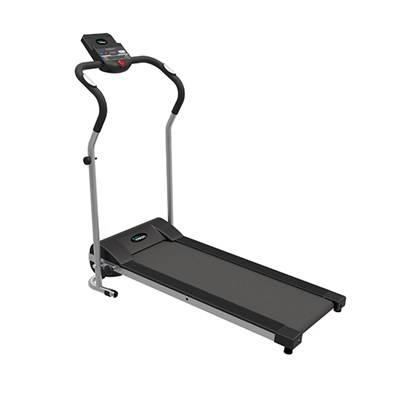 Body Train Folding Treadmill with Pulse Sensors and Tablet Holder