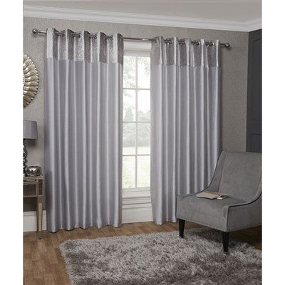 Aurora Eyelet Lined Curtains 90-inches
