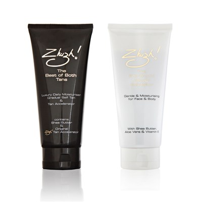 Zhuzh! Best of Both Tans 200ml & Exfoliator 200ml Double Up Collection