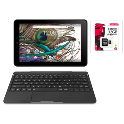 RCA Saturn 10 Pro 10.1inch Tablet with Detachable Keyboard with Kingston 32GB MicroSD Card