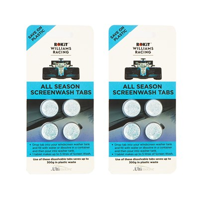 Williams Racing ROKiT All Season Screen Wash Tabs (2 x 4 Pack)
