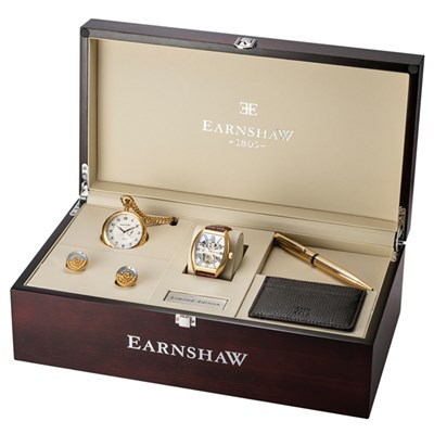 Thomas Earnshaw Limited Edition Gent's Holburn Automatic IP Plated Watch and Deluxe Gift Set
