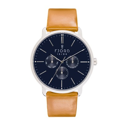 Fjord Gent's Erik Watch with Genuine Leather Strap