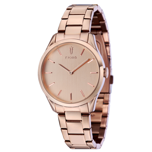 Fjord Vendela Ladies' Watch with Stainless Steel Bracelet Rose Gold
