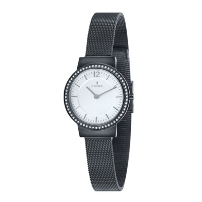 Fjord Ladies' Elina Diamante Watch with Stainless Steel Bracelet