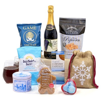 Hay Hampers Blue Christmas Gift Box