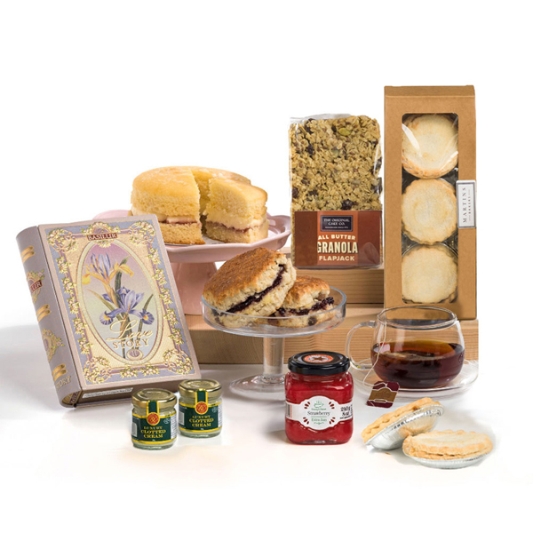 Hay Hampers Christmas Cream Tea Gift Box No Colour