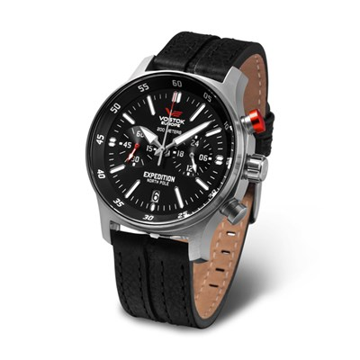 Vostok Europe Gent's Expedition N1 Chronograph Watch with Interchangeable Strap