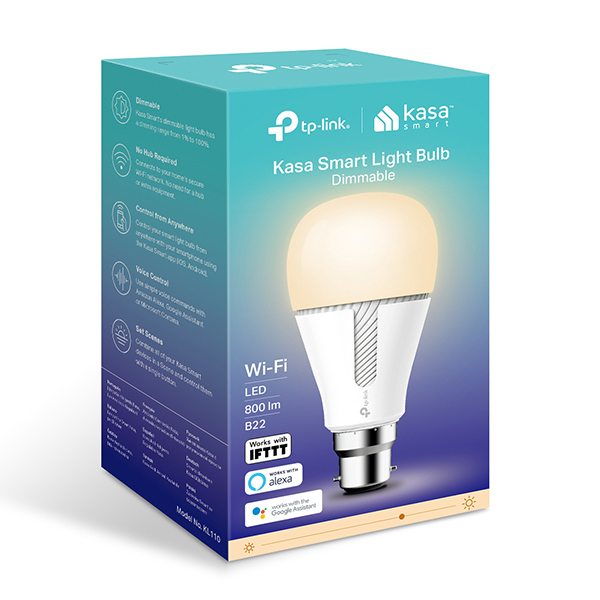 TP-Link Smart Dimmable Wi-Fi LED Bulb B22
