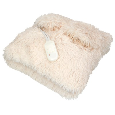 Heated Faux Fur Cushion with Pockets