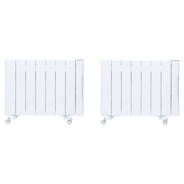 Warm Home 2000W Ceramic Radiator (Twin Pack) No Colour