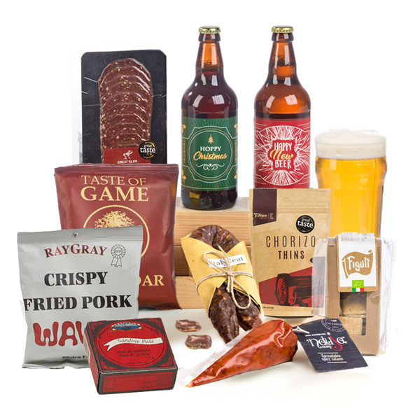 Hay Hampers Hoppy Christmas Charcuterie & Beer Gift Box No Colour