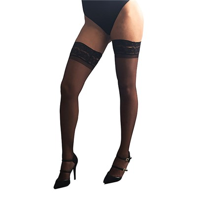 Bianca Miller London Black Hold Ups 15D