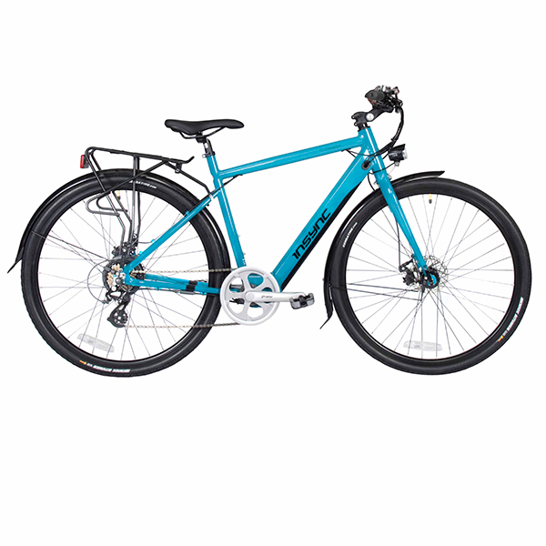 InSync Townmaster 36V 250W Electric Bike with Integrated Battery Teal