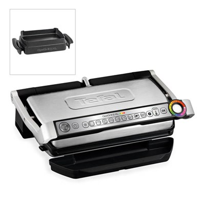 Tefal Optigrill Plus XL with Snacking Tray - 9 Automatic Settings, Cooking Sensor and Non-Stick Removable Plates