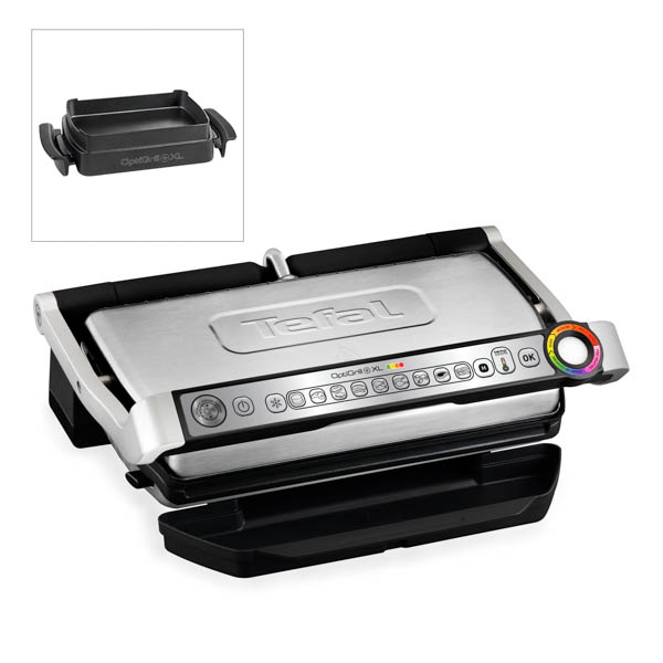 Tefal Optigrill Plus XL with Snacking Tray - 9 Automatic Settings, Cooking Sensor and Non-Stick Removable Plates No Colour