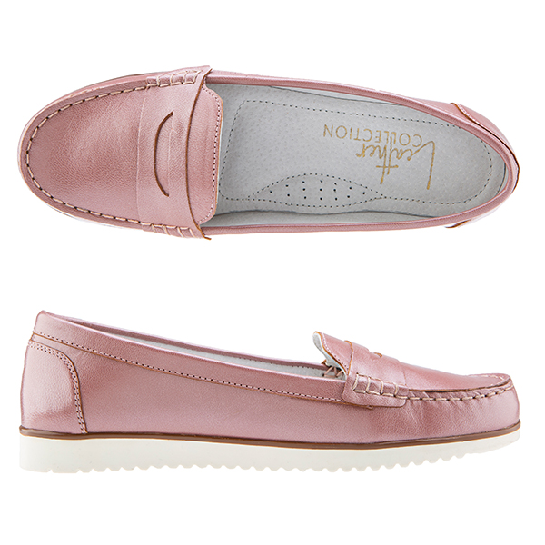 Leather Collection Loafer Rose