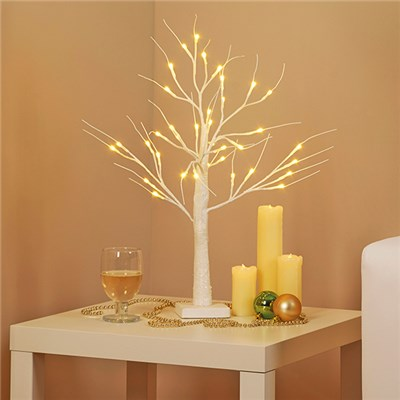 White Indoor 60cm Silverbirch Tree D8986