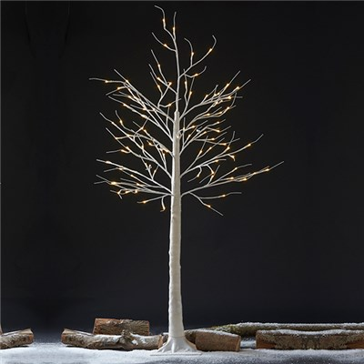 Indoor/Outdoor 1.5M LED Silver Birch Tree