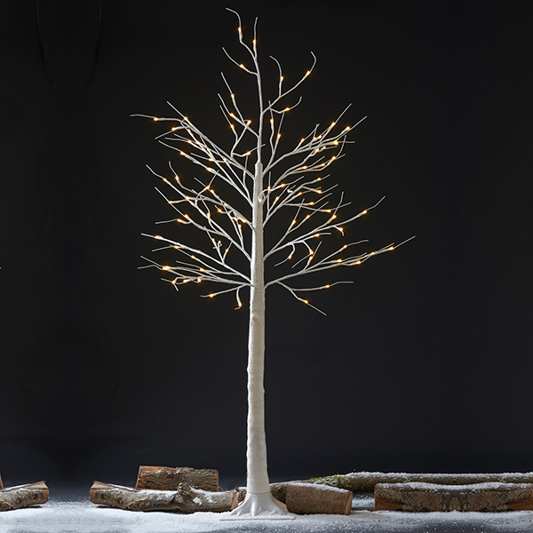 Indoor/Outdoor 1.5M LED Silver Birch Tree No Colour