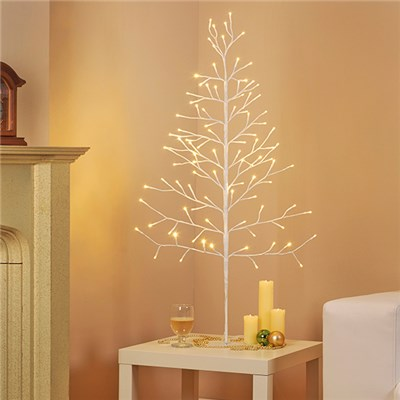 Indoor/Outdoor 1.2M LED White Xmas Tree D8986