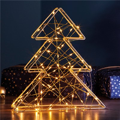 70 LED 3D Gold Xmas Tree Light G4323